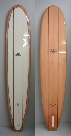 """Donald Takayama Step Deck - 9'4"""" x 22 5/8"""" x 3"""" - salmon tint rail and bottom, clear deck, black and red pinlines"""