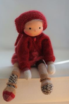 Waldorf knitted doll Estelle 13 by Peperuda by danielapetrova