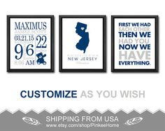 Nautical boy birth announcement nautical birth stats print new baby announcement navy gray birth stats print personalized baby gifts wall decor teddy bear nursery negle Choice Image