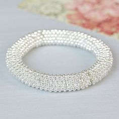 Silver Textured Stars Bracelet