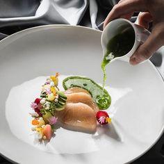 Hamachi 'Sashimi' with avocado, daikon, citrus & jalapeño by @christianbau by @lukaskirchgasser_fotografie #chefsroll #rollwithus