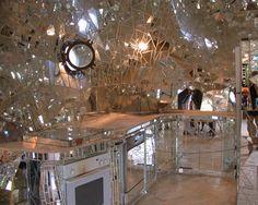 Mirrored Mosaic Kitchen