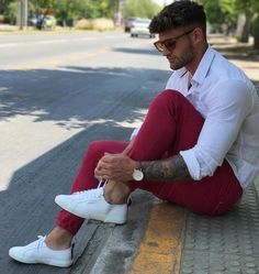 Red and white by. @valentinbenet ✨ [ www.RoyalFashionist.com ]
