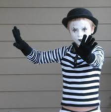 Mime!  Easy costume, especially if you're shy... scare2win an iPad @Halloween Alley HQ