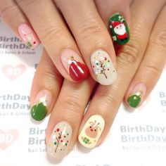 Train as a nail artist for Christmas and get hot orders right after training! In 2020 with a new profession! Christmas Nail Polish, Cute Christmas Nails, Xmas Nails, Cute Nail Art, Christmas Nail Art, Holiday Nails, Xmas Nail Designs, Acrylic Nail Designs, Nail Art Designs