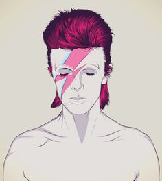 David Bowie Art Print by CranioDsgn | Society6- Can you ever get tired of this image? The answer is NO!