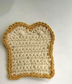Ravelry: Bread With Jam Fridgie pattern by Sally Ives Crochet Food, Crochet Kitchen, Knit Or Crochet, Cute Crochet, Crochet For Kids, Crochet Crafts, Yarn Crafts, Yarn Projects, Crochet Projects