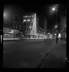 1963 – Hastings Street from Richards Street at night. VPL Number: 43349.  Photographer: Province Newspaper.