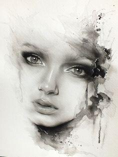 oil dry brush and watercolour art by glen preece