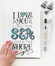 Which essentially means that sometimes I want to be near you and other times far, far away. #handlettered