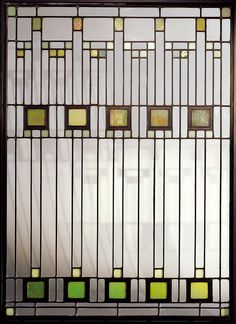stained glass ~ frank lloyd wright - inspiration for upper hall and laundry room window panels