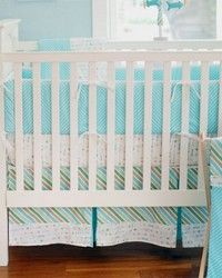 Follow Your Arrow in Aqua 3pc Crib Bedding Set