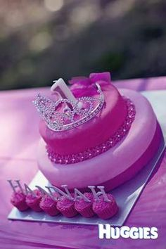Princess 1st Bday cake