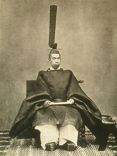 "The Meiji Emperor Mutsuhito. 1852-1912. (It is not right to actually call ""Emperor"". The right name of Japanese Emperor is ""Tennou"" or "" Tennou-Heika"".) Meiji era."