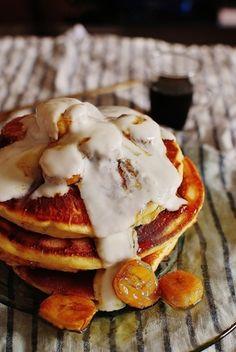 驚きの超しっとり!バナナヨーグルトパンケーキ|レシピブログ