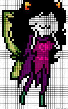 Homestuck Meulin Leijon perler bead pattern Pixel Pattern, Cute Pattern, Hama Beads Patterns, Beading Patterns, Perler Bead Art, Perler Beads, Pixel Art, Homestuck Characters, Melting Beads