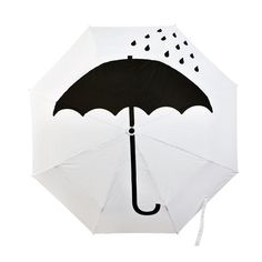 it is bad luck to open umbrella indoors. we could have an umbrella for each person. or print design superstitions on umbrellas