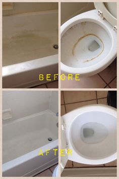 Use 1/4 bleach to 3/4 baking soda to create as much paste as needed. Apply to bathroom & let sit for 20 min. Scrub and wash clean.
