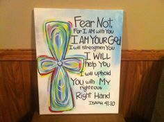 Bible verse canvas by SouthernCharmedd on Etsy, $25.00