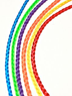 RAINBOW BRITE - 6 Rainbow Brite Rainbow Braids Hair EXTENSIONS Fantasy Rainbow Hair Rainbow Braid Extensions. Hair Extensions Chicago Style.