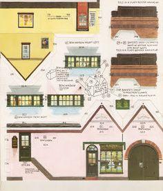 Toys and Stuff: Kellogg's UK Paper Village Sheet 2 Pt 4 - Baker's Shop - Edward Bettina Berg