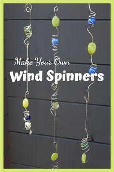 How To Make Garden Wind Spinners - Growing Healthy Kids., How To Make Garden Wind Spinners Wire Crafts, Bead Crafts, Dyi Crafts, July Crafts, Ornament Crafts, Shell Crafts, Snowman Ornaments, Garden Wind Spinners, Diy Wind Chimes