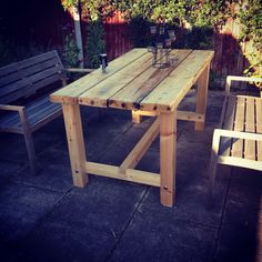 Garden Furniture Made From Scaffolding Planks simple table made from scaffolding planks | garden furniture