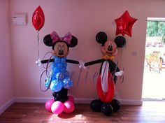 Mickey and Minnie Mouse Balloon Sculptures by Garfield's Balloons Weddings Tamworth, via Flickr