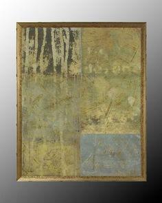 John Richard 52X64 Silver Gilded Abstract