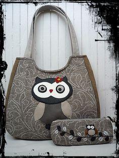 2014/Ősz a meseerdőben - Baglyos táska szett - AnneTextil by HandMade