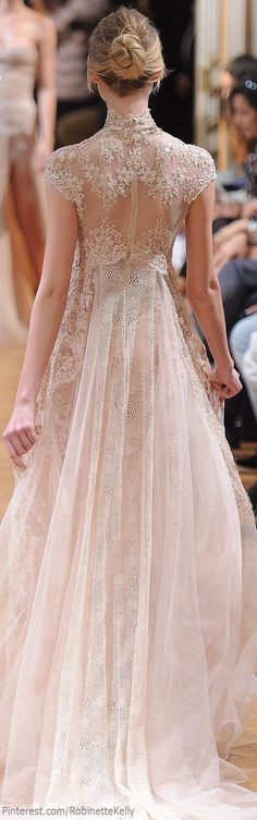 I don't want cap sleeves, but otherwise this is gorgeous! -- Zuhair Murad, fall 2013 | Couture gown