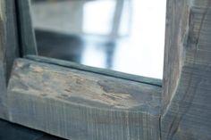 Specchio legno di pioppo tinto a piacere, corteccia interna