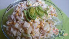 Celerový salát s ananasem a pórkem   NejRecept.cz Potato Salad, Cheese Cubes, Ham And Cheese, Boiled Ham, Original Recipe, Meat Recipes, Celery, Pineapple