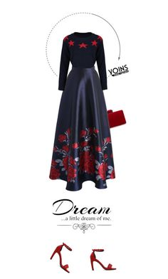 """""""Dream Yoins."""" by francesca-belotti ❤ liked on Polyvore featuring Chicwish, Love Quotes Scarves, wintersweater, yoins, yoinscollection and loveyoins"""