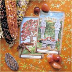 Samhain and Fall Tree card from The Hidden Path Oracle  / Photo © www.VioletAura.com