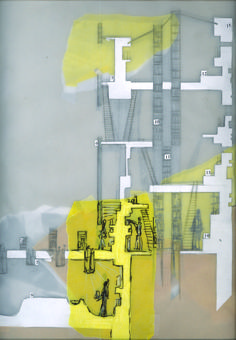 B. Knights, 2008, Drawing, Student Project, Bartlett School of Architecture, Year 1 Design, Patrick Weber Course Director