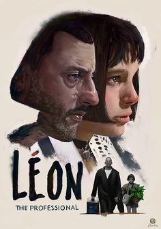 Leon: The professional , is a 1994 English-language French crime thriller film written and directed by Luc Besson. Movie poster by Marcel Domke