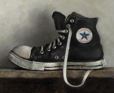 Black All Star - oil on panel - Neil Nelson