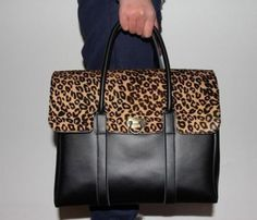 "Leather Leopard Handbag...@Rachel Nebozuk ""Leopard is a neutral."" Totally you!"