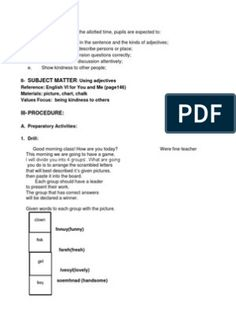 Detailed Lesson Plan in Mathematics Grade 2 Phonics Lesson Plans, Science Lesson Plans, Science Lessons, Lesson Plan Examples, Lesson Plan Templates, Lesson Plan In Filipino, Plant Lessons, Describing Words, English Lesson Plans