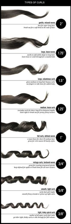 And the right curling iron, too. | 31 Charts That'll Help You Have The Best Hair Of Your Life