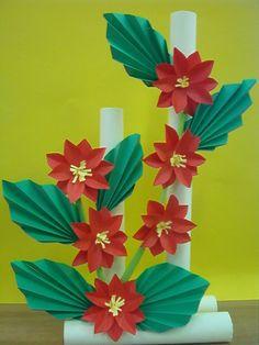 Kwiaty z papieru, ikebana, prace plastyczne, Dariusz Żołyński, flowers paper,   paper  flower, prace z papieru