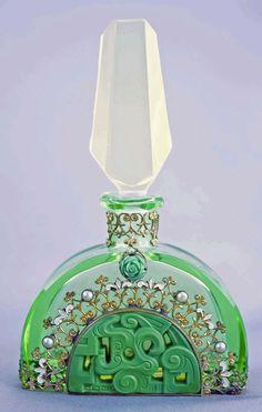 Czech Hoffman Jewelled Perfume Bottle
