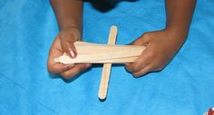 Pick up sticks game with craft sticks or toothpicks