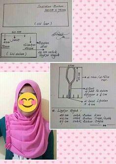 Turban Hijab, Hijab Dress, Clothing Patterns, Dress Patterns, Sewing Patterns, Tudung Shawl, Couture, Sew Wallet, Patchwork Tutorial