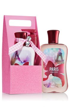 Paris Amour Body Lotion & Shower Gel Carrier - Signature Collection - Bath & Body Works