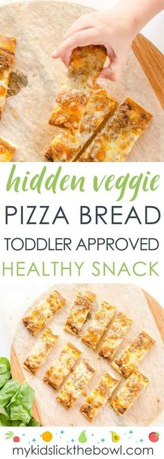 Hidden Veggie Pizza Bread, a great easy recipe for kids and picky eaters, a healthy snack or kid-friendly meal #pickyeaters
