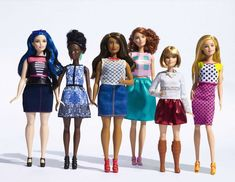 Barbie moves beyond blue-eyed and blond with new body type, hair, and skin color options | Inhabitots