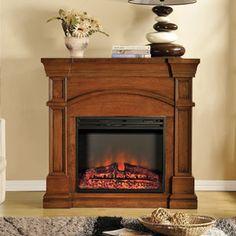 Oberon Electric Fireplace Mantel in Burnished Walnut - MEF2391BWL