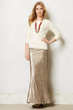 Sirene Sequin Skirt - anthropologie.com